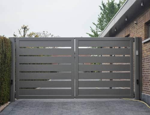 Aluminium 45 – Lammel 200 horizontaal (dubbele draaipoort)