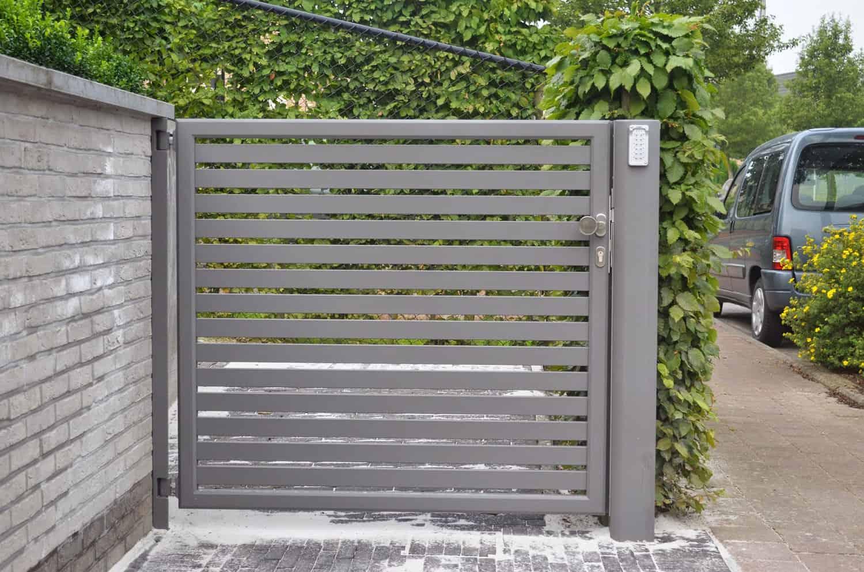 Aluminium 50 – Lammel 60 horizontaal (enkele draaipoort)